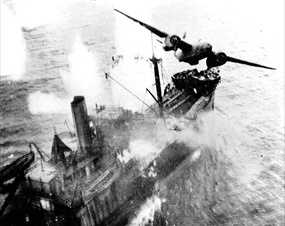 Battle of the Bismarck Sea: Skip-bombing A-20 Havoc
