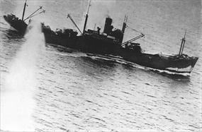 "Battle of the Bismarck Sea: ""Taimei Maru"" under aerial attack"