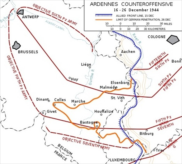 Ardennes Offensive from December 16 to 26, 1944