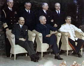 """Big Three"", postwar Potsdam Conference, July 28 to August 1, 1945"