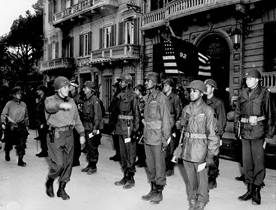 African American 92nd Infantry Division decoration ceremony, Italy, March 1945