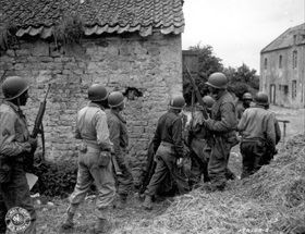 Black American troops at Normandy, France, June 1944