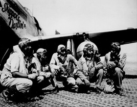 African American 332nd Fighter Group members, Italy, August 1944