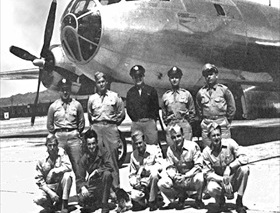 """Bockscar"" crew, photo taken two days after Nagasaki bombing"