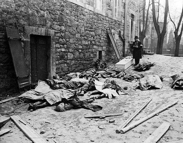 Battle of the Bulge (Ardennes Campaign): Belgian bodies left by Germans