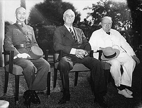 Chiang Kai-shek, Franklin D. Roosevelt, Winston Churchill, November 25, 1943