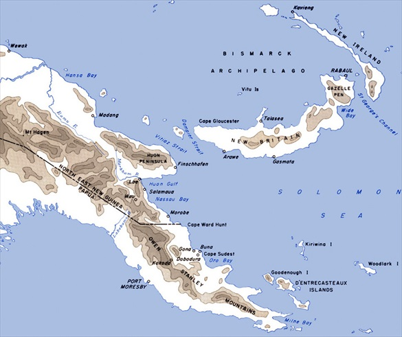 Eastern New Guinea and New Britain Island