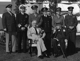 Roosevelt, Churchill, and Combined Chiefs of Staff, Casablanca Conference, January 1943