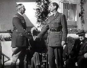 Giraud–de Gaulle handshake, Casablanca Conference, January 17, 1943