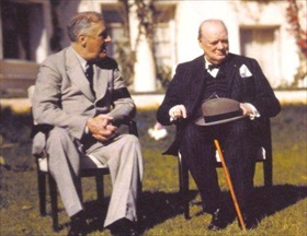 Roosevelt and Churchill, Casablanca Conference, January 14, 1943