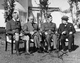 Giraud, Roosevelt, de Gaulle, Churchill, Casablanca Conference, January 17, 1943