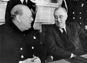 First Washington Conference (Arcadia Conference): Churchill and Roosevelt, White House, December 22, 1941