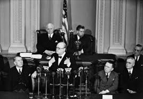 Churchill addressing U.S. Congress, December 26, 1941
