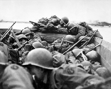 Crossing the Rhine, March 1945: U.S. Third Army's 89th Infantry Division in motorized assault boats