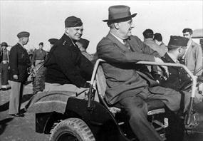Eisenhower and Roosevelt, Tunis, December 7, 1943