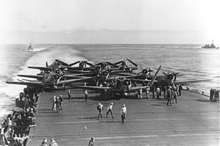 "Battle of Midway: Torpedo Squa­dron Six (VT‑6) Devastators prepare to launch from ""Enterprise,"" June 4, 1942"