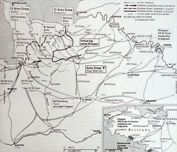 Falaise Pocket and Gap, August 16-20, 1944