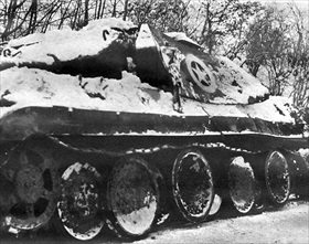 German Panther tank disguised as a U.S M10 tank destroyer
