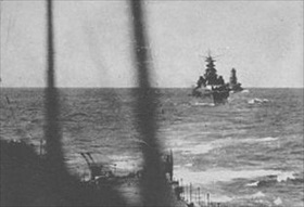 Japanese warships headed to Guadalcanal, November 14, 1942