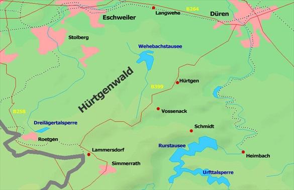 Huertgen Forest battleground, September 1944 to February 1945