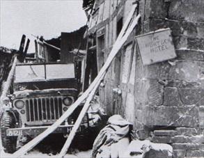 121st Infantry Regiment HQ, Huertgen Forest, January 1945