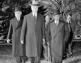 Nomura (from left), Hull, Kurusu, Washington, November 17, 1941
