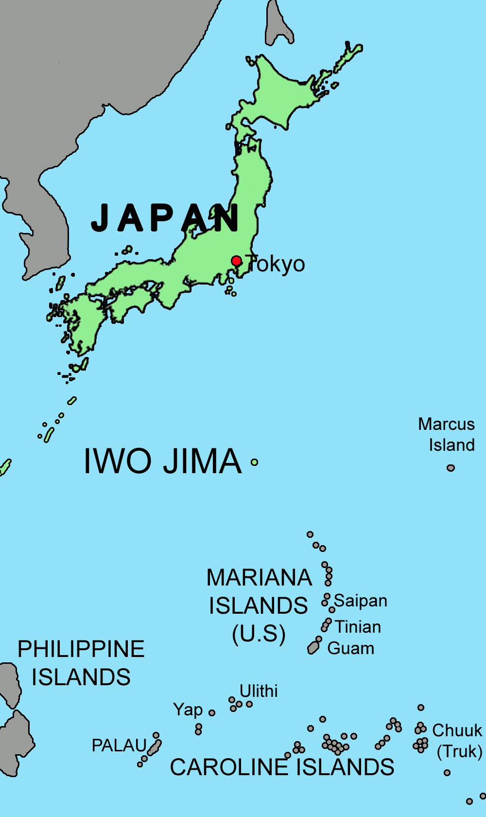 Iwo jima bombing continues world war ii day by day iwo jima map gumiabroncs Image collections