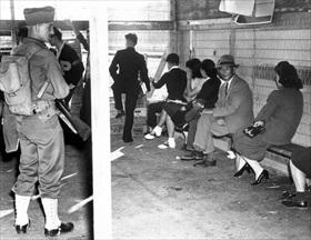 Japanese-American internment: Japanese prisoners, San Pedro, December 7, 1941