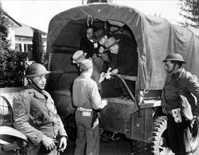 Japanese-American internment: Japanese prisoners, Santa Maria, February 18, 1942