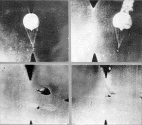 Shoot-down of Japanese fire balloon, 1945