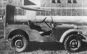 "Karl Probst and his Bantam No.1 ""Blitz Buggy"""