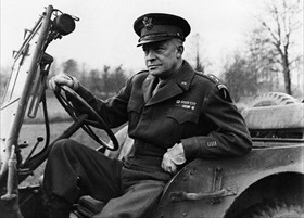 Gen. Dwight D. Eisenhower in Jeep, December 1944