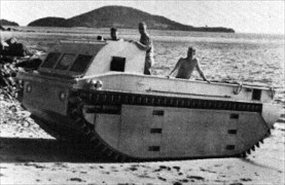 Landing Vehicle Tracked (LVT) testing phase, Pueto Rico, 1940