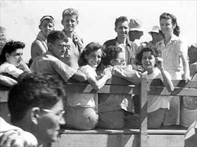 Japanese internment camps: Freed Los Baños POWs, February 23, 1945