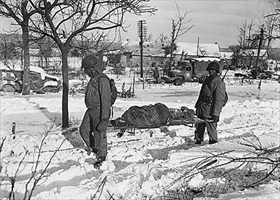 African American graves detail, Baugnez-Malmedy, January 1945