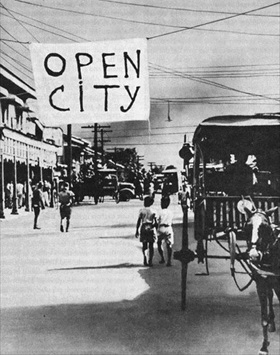 "Manila declared ""open city"""