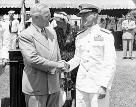 Truman and Mitscher, July 1946