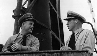 "O'Kane and Morton on USS ""Wahoo"""