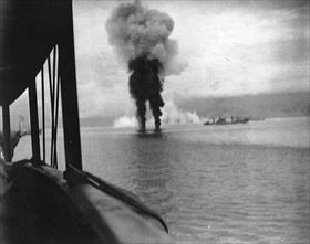Japanese planes crash into the sea, November 12, 1942