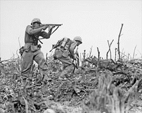 Battle of Okinawa: Two Marines, Northern Okinawa, May 1945