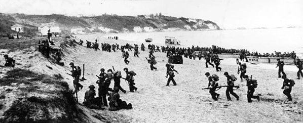 Operation Torch: Algiers invasion beach, November 8,1942