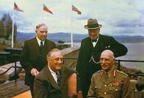 King, Churchill, Roosevelt, Cambridge, Quadrant Conference, August 1943
