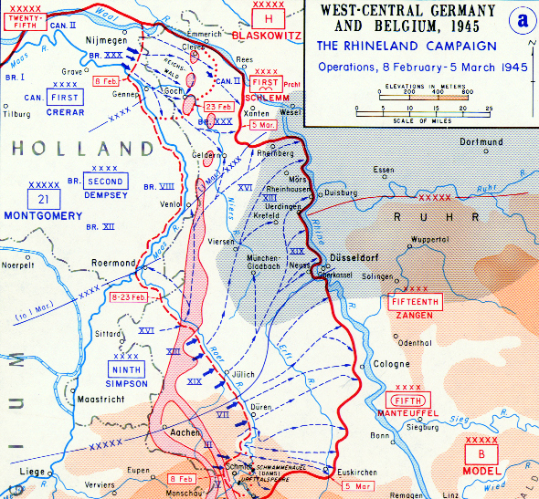 Rhineland Campaign, February 8 to March 10, 1945