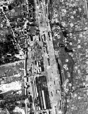 Daylight precision bombing: Rouen-Sotteville marshaling yard, July 8, 1944