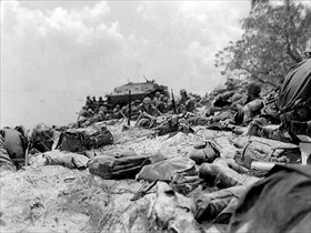 Marines, Red Beach, Saipan, June 16, 1944