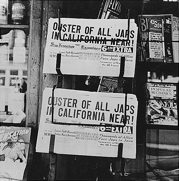 Executive Order 9066: San Francisco newspaper headline, February 27, 1942