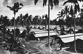 Quonset village at Tolosa on Leyte Gulf, Philippines
