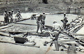 Seabee construction detail, Pacific theater