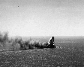 Battle of the Coral Sea: Japanese carrier Shōhō under attack, May 7, 1942