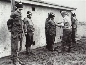 Military execution of three German spies, December 23, 1944